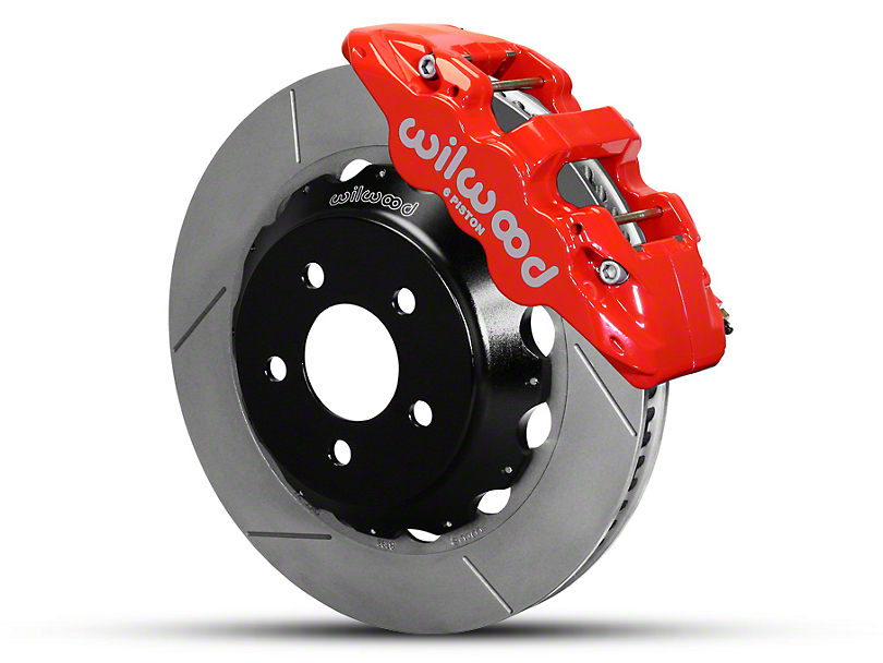Wilwood AERO6 Front Brake Kit w/ 15 in. Slotted Rotors - Red (15-19 All)