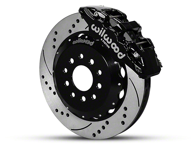 Wilwood AERO6 Front Brake Kit w/ Drilled & Slotted Rotors - Black (05-14 All)