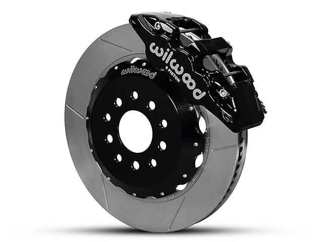 Wilwood AERO6 Front Brake Kit w/ Slotted Rotors - Black (05-14 All)