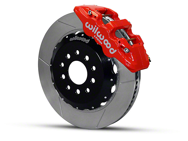 Wilwood AERO6 Front Brake Kit w/ Slotted Rotors - Red (05-14 All)