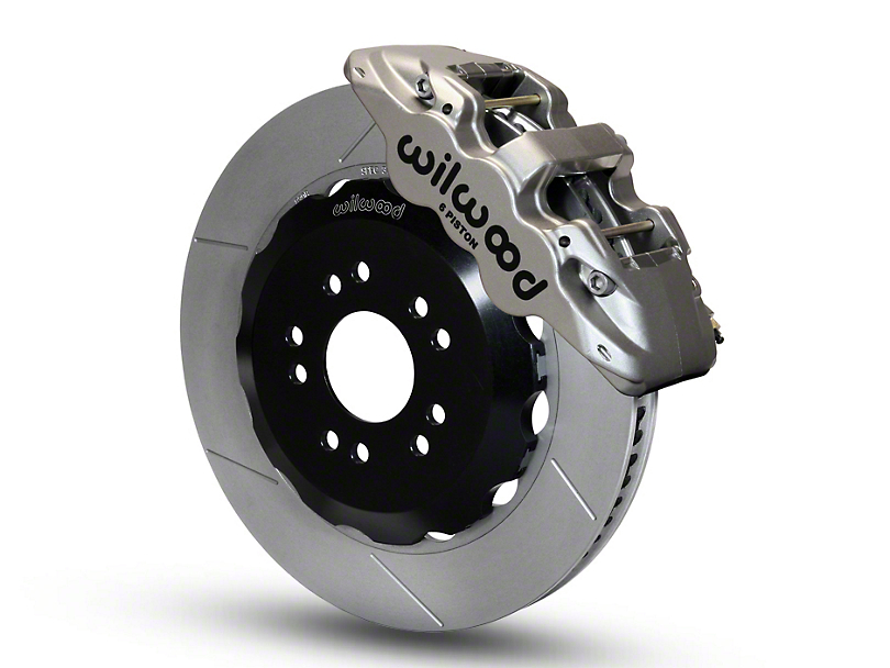 Wilwood AERO6 Road Race Front Big Brake Kit; Nickel Plated Calipers (05-14 All)