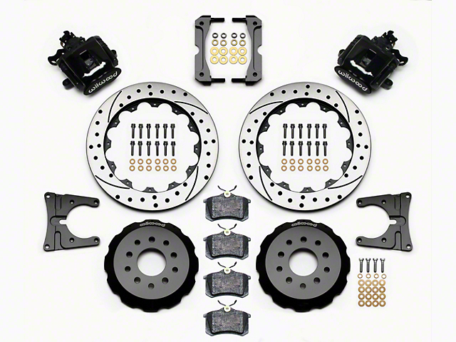 Wilwood CPB Rear Brake Kit w/ Drilled & Slotted Rotors - Black (05-14 All)