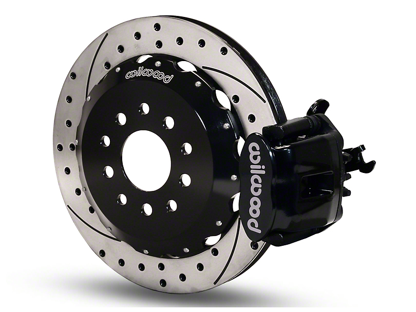 Wilwood CPB Rear Brake Kit w/ Drilled & Slotted Rotors - Black (94-04 GT, V6)