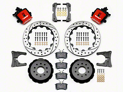 Wilwood CPB Rear Brake Kit w/ Drilled & Slotted Rotors - Red (05-14 All)
