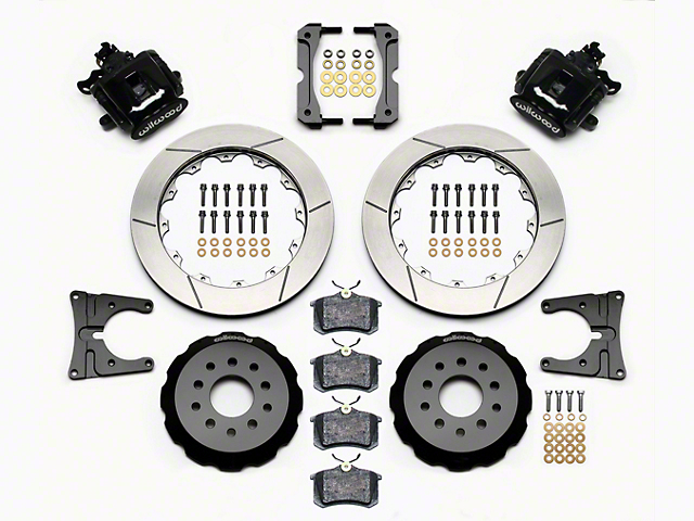 Wilwood CPB Rear Big Brake Kit with Slotted Rotors; Black Calipers (05-14 All)