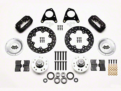 Wilwood Forged Dynalite Drag Race Front Brake Kit w/ Drilled Rotors (87-93 w/ 5-Lug Conversion)