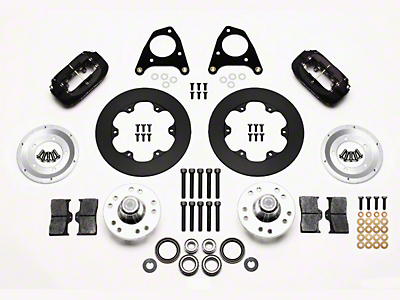 Wilwood Forged Dynalite Drag Race Front Brake Kit w/ Undrilled Rotors (87-93 w/ 5-Lug Conversion)