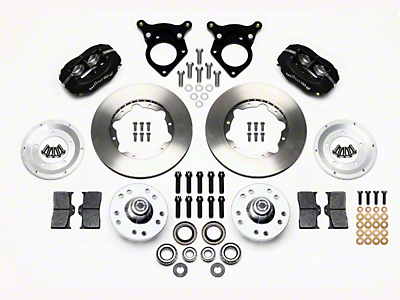 Wilwood Forged Dynalite Pro Series Front Brake Kit w/ Undrilled Rotors - Black (87-93 w/ 5-Lug Conversion)