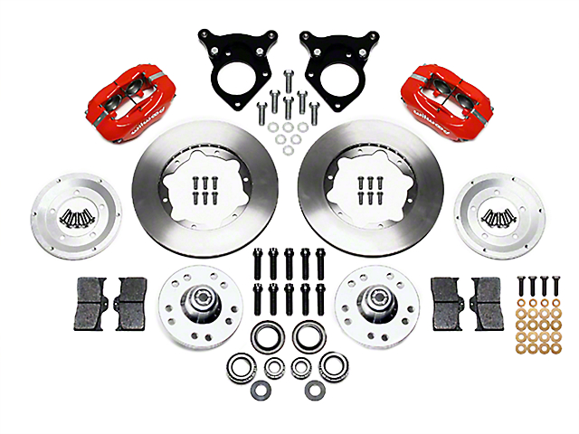 Wilwood Forged Dynalite Pro Series Front Brake Kit w/ Undrilled Rotors - Red (87-93 w/ 5-Lug Conversion)