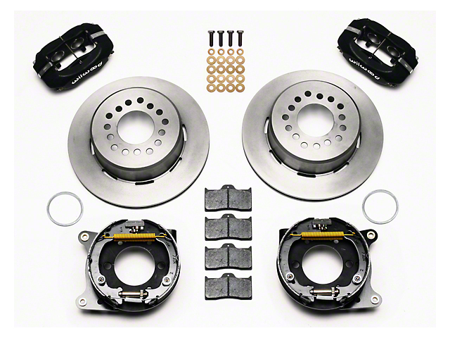 Wilwood Forged Dynalite Rear Brake Kit w/ Slotted Rotors - Black (05-14 All)