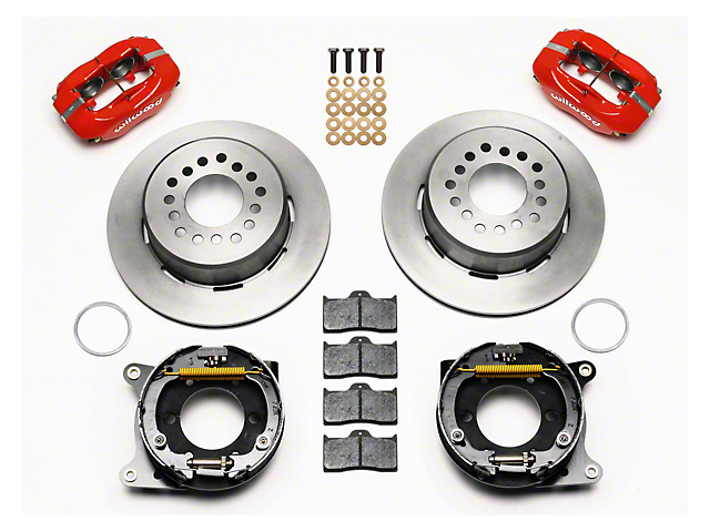 Wilwood Forged Dynalite Rear Brake Kit w/ Slotted Rotors - Red (05-14 All)