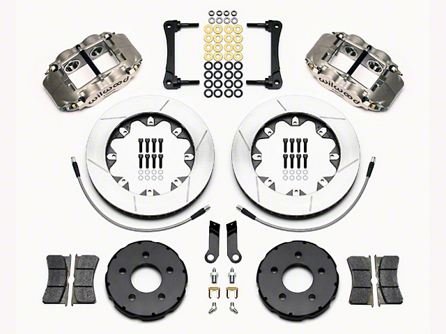 Wilwood Superlite 4R Road Race Front Big Brake Kit - Anodized Gray Calipers (05-14 All)