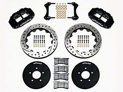 Wilwood Superlite 6R Front Big Brake Kit with 12.90-Inch Drilled and Slotted Rotors; Black Calipers (94-04 All)
