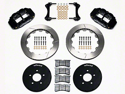 Wilwood Superlite 6R Front Brake Kit w/ 12.90 in. Slotted Rotors - Black (94-04 All)