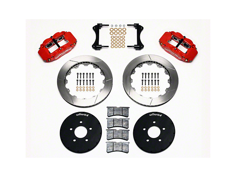 Wilwood Superlite 6R Front Big Brake Kit w/ 12.90 in. Slotted Rotors - Red Calipers (94-04 All)