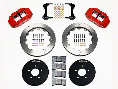 Wilwood Superlite 6R Front Brake Kit w/ 12.90 in. Slotted Rotors - Red (94-04 All)