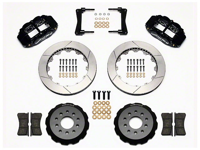 Wilwood Superlite 6R Front Big Brake Kit w/ 13 in. Slotted Rotors - Black Calipers (05-14 All)