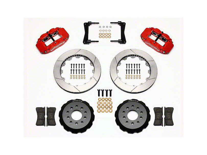 Wilwood Superlite 6R Front Brake Kit w/ 13 in. Slotted Rotors - Red (05-14 All)