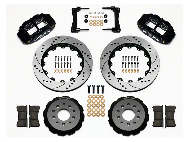 Wilwood Superlite 6R Front Big Brake Kit with 14-Inch Drilled and Slotted Rotors; Black Calipers (05-14 All)