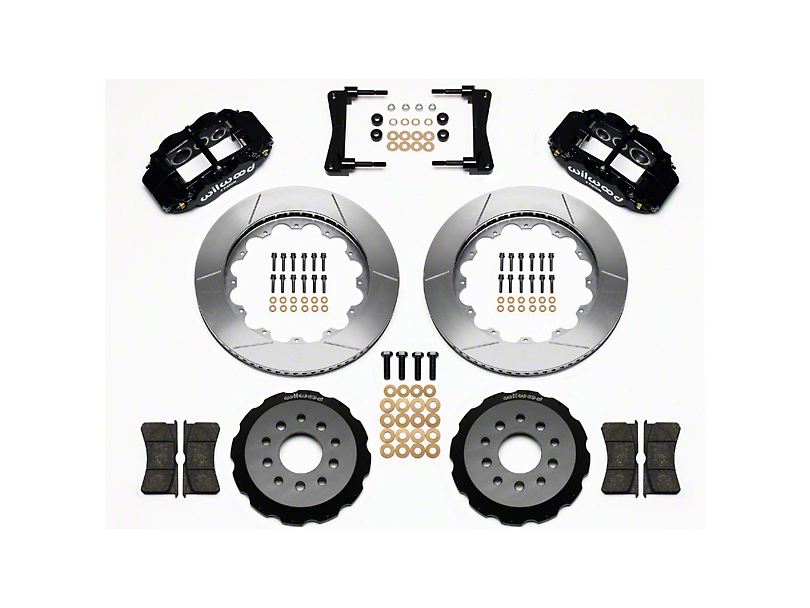 Wilwood Superlite 6R Front Big Brake Kit w/ 14 in. Slotted Rotors - Black Calipers (05-14 All)