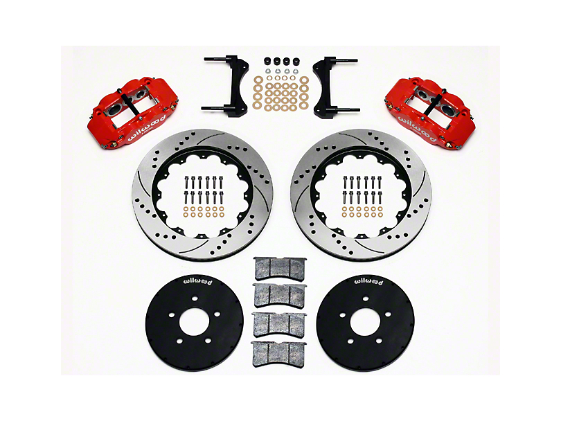 Wilwood Superlite 6R Front Big Brake Kit w/ 14.00 in. Drilled & Slotted Rotors - Red (94-04 All)