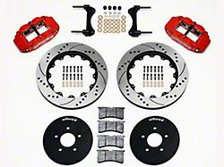 Wilwood Superlite 6R Front Big Brake Kit with 14-Inch Drilled and Slotted Rotors; Red Calipers (94-04 All)