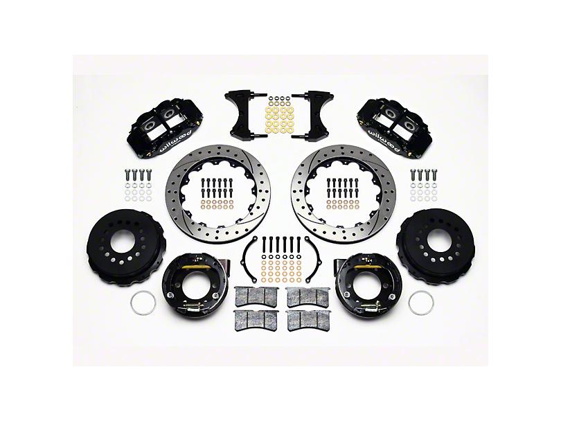 Wilwood Superlite 6R Rear Big Brake Kit w/ Drilled & Slotted Rotors - Black Calipers (05-14 All)