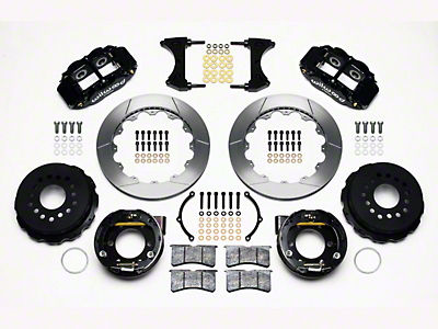 Wilwood Superlite 6R Rear Brake Kit w/ Slotted Rotors - Black (05-14 All)