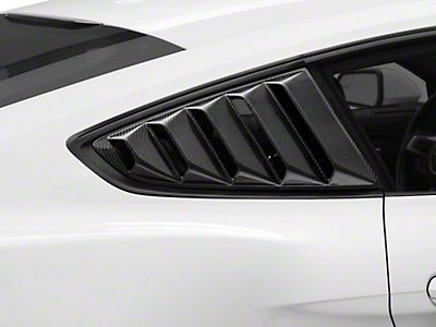 MMD Quarter Window Louvers - Carbon Fiber (15-18 Fastback)