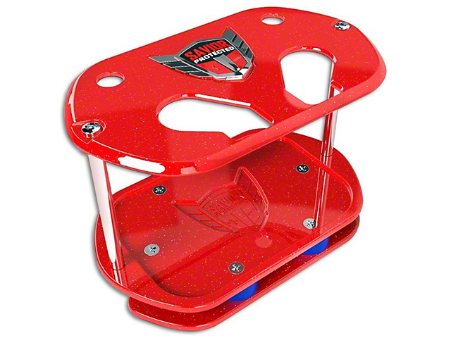 Savior Show Case for Optima 34 Batteries; Red Sparkle