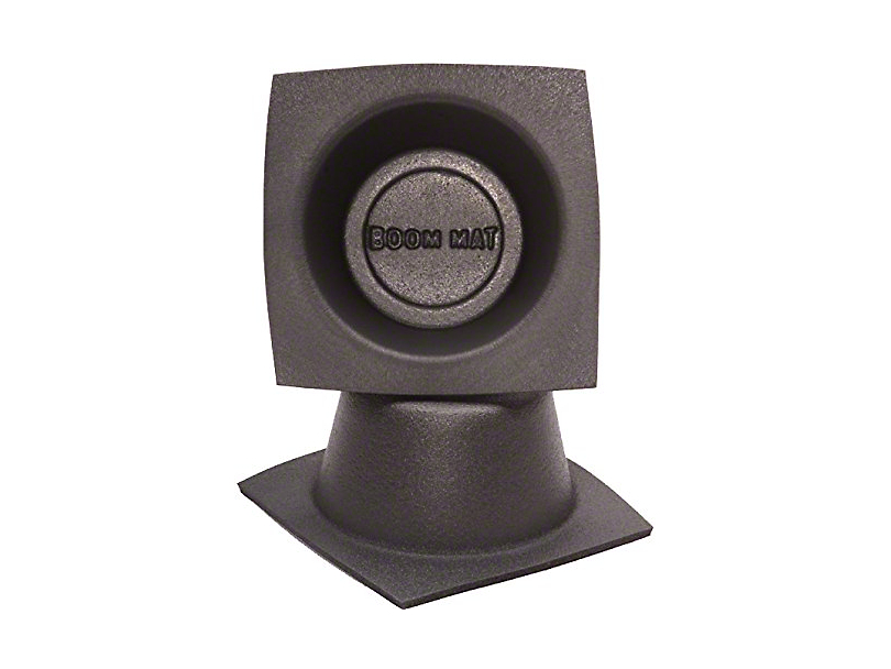 Boom Mat Speaker Baffles; 4-Inch Round Slim (Universal Fitment)