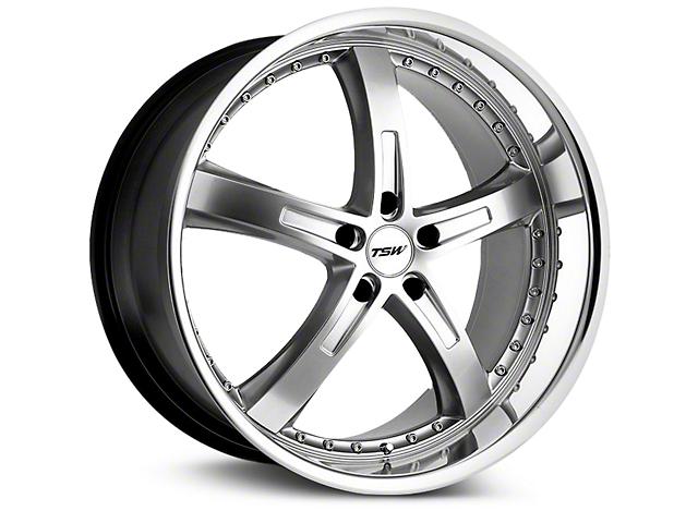 TSW Jarama Hyper Silver Wheel; 19x8 (10-14 Standard GT, V6)