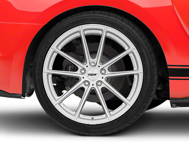 TSW Bathurst Silver Wheel; Rear Only; 20x10 (15-20 GT, EcoBoost, V6)