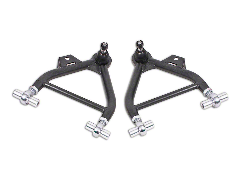 BMR Adjustable Front Lower Coil-Over A-Arms - Rod End - Tall Ball Joint - Hammertone (79-93 All)