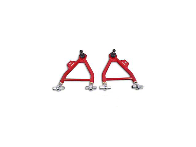 BMR Adjustable Front Lower Coil-Over Arm Arms; Rod End; Tall Ball Joint; Red (94-04 All)