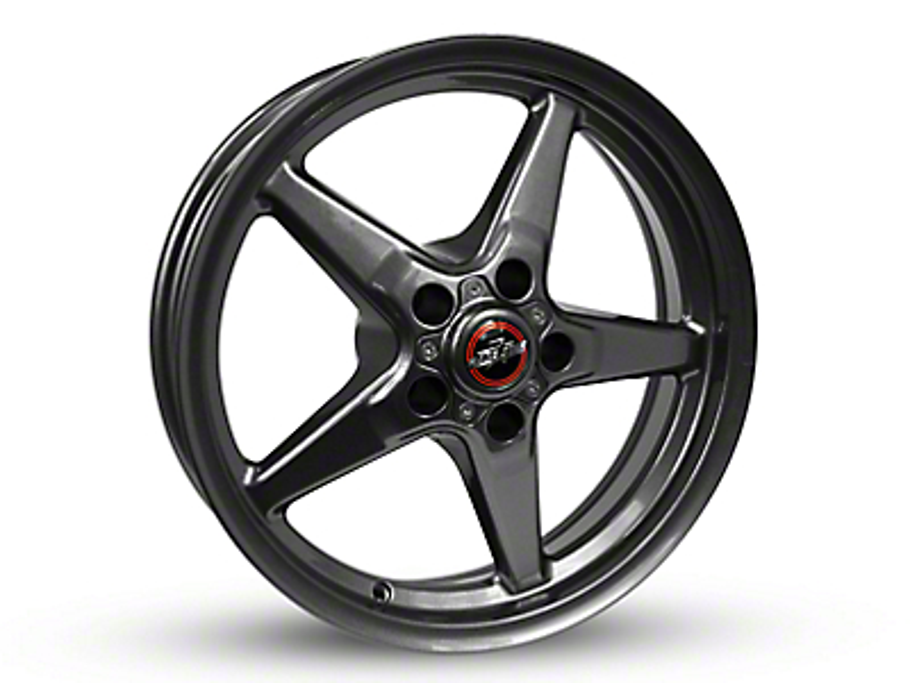 Race Star 92 Drag Star Bracket Racer Metallic Gray Wheel - 15x10 (87-93 w/ 5 Lug Conversion)