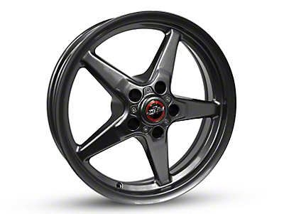 Race Star 92 Drag Star Bracket Racer Metallic Gray Wheel - 17x4.5 (87-93 w/ 5 Lug Conversion)