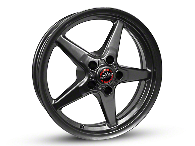 Race Star 92 Drag Star Bracket Racer Metallic Gray Wheel; 17x7 (87-93 w/ 5 Lug Conversion)