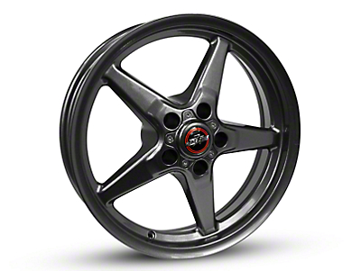 Race Star 92 Drag Star Bracket Racer Metallic Gray Wheel - 17x7 (87-93 w/ 5 Lug Conversion)