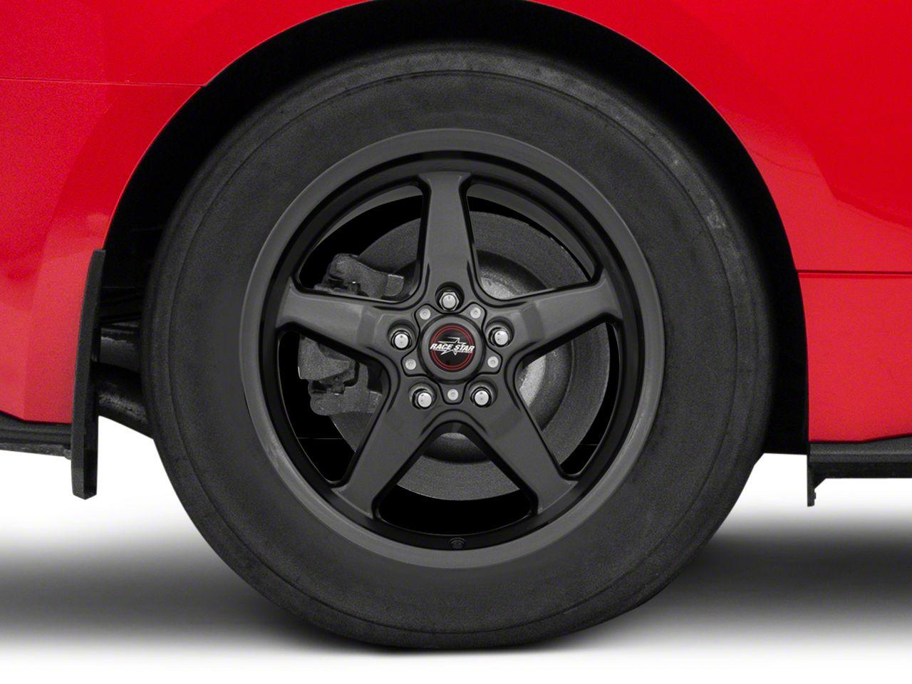 Race Star 92 Drag Star Bracket Racer Metallic Gray Wheel - 17x9.5 (15-19 GT, EcoBoost, V6)