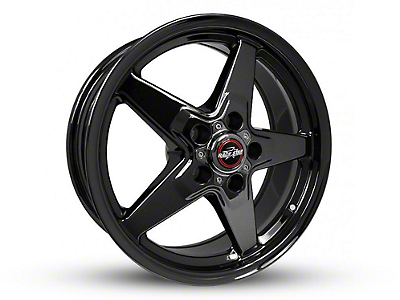Race Star 92 Drag Star Dark Star Black Chrome Wheel - Direct Drill - 15x7 (87-93 w/ 5 Lug Conversion)