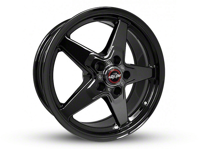 Race Star 92 Drag Star Dark Star Black Chrome Wheel - Direct Drill - 15x7 (94-04 GT, V6)