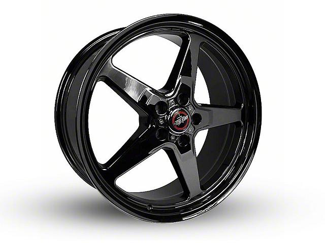 Race Star 92 Drag Star Dark Star Black Chrome Wheel - Direct Drill - 20x9 (15-19 GT, EcoBoost, V6)