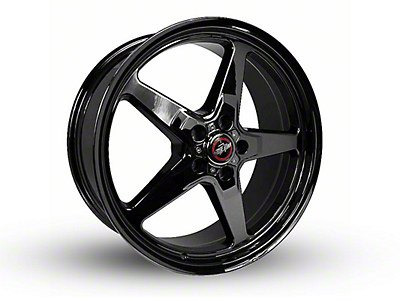 Race Star 92 Drag Star Dark Star Black Chrome Wheel - Direct Drill - 20x9 (15-18 GT, EcoBoost, V6)