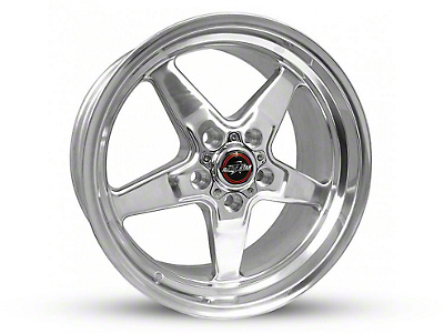 Race Star 92 Drag Star Polished Wheel - Direct Drill - 17x9.5 (87-93 w/ 5 Lug Conversion)
