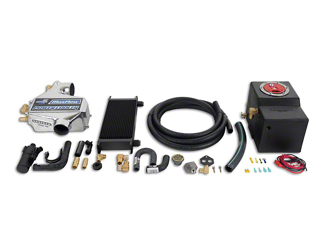 Vortech Air-to-Water Charge Cooler Upgrade Kit; Polished (86-93 5.0L)