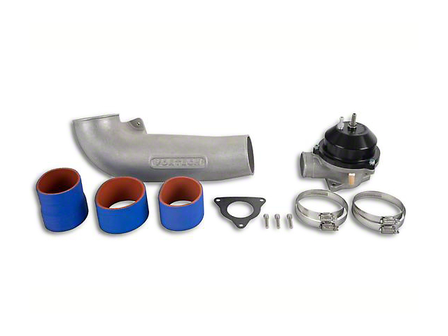 Vortech Discharge Tube Assembly with Maxflow Race Bypass Valve - Polished (86-93 5.0L)