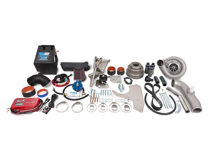 Vortech V-1 H/D Ti-Trim H.O. Supercharger System - Complete Kit - Polished (86-93 5.0L)