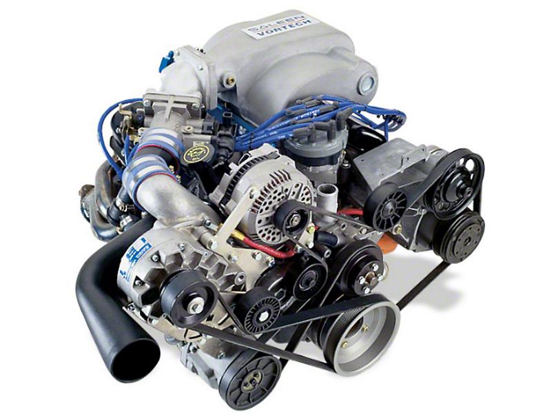 Vortech V-1 H/D Ti-Trim Supercharger Kit - Polished (94-95 5.0L)