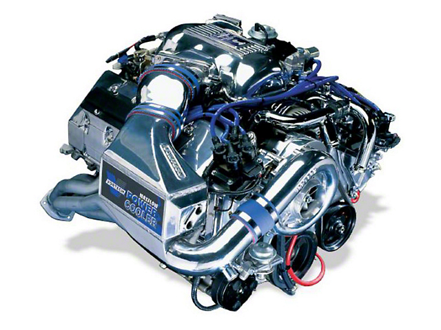 Vortech V-1 H/D Ti-Trim Supercharger Tuner Kit; Polished (96-98 Cobra)